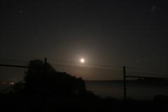 Die Nidderauen bei Mondaufgang