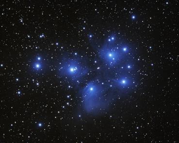 Plejaden M45 Bild: B. Schneider