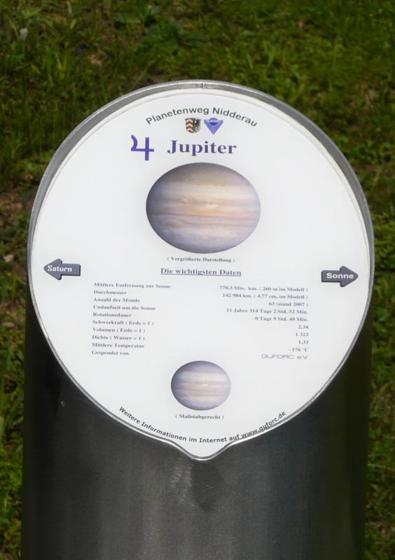 Infotafel Jupiter