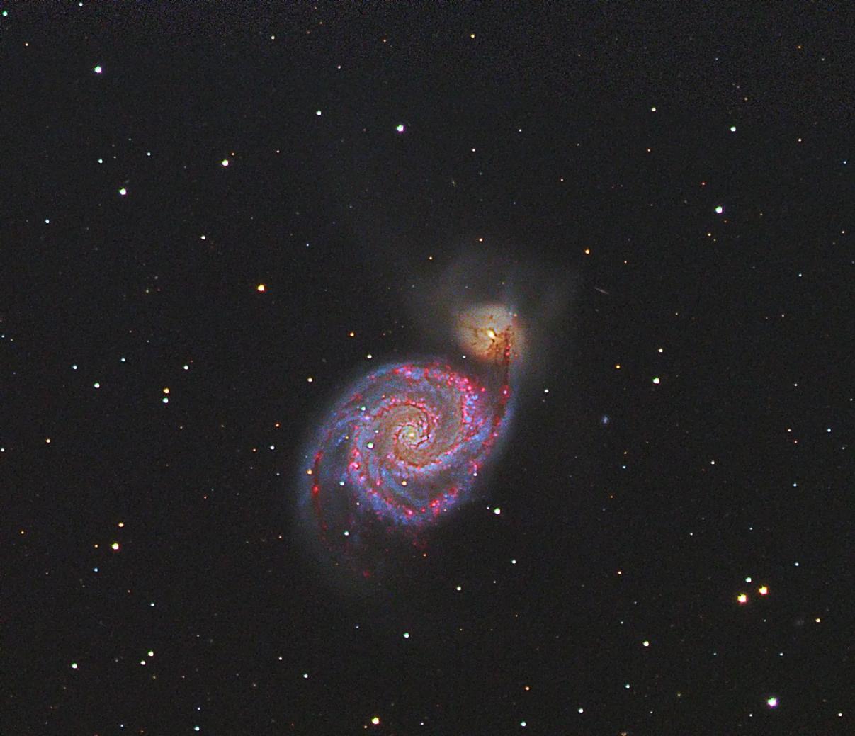 Strudelgalaxie M51_HaLRGB