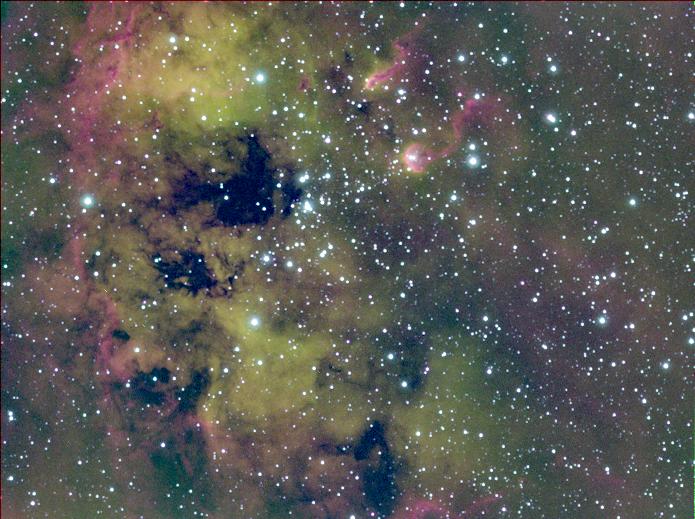 Kaulquappennebel IC410  mit NGC1893  Hubblepalette
