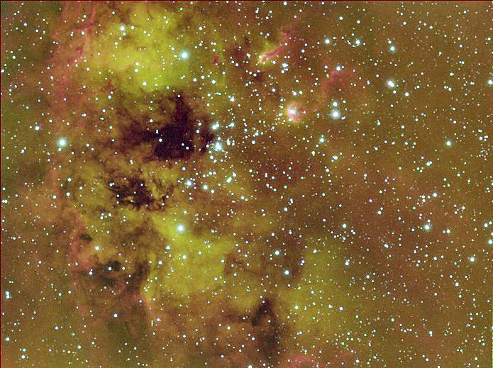 Kaulquappennebel IC410 mit NGC1893 Schmalbandkomposit