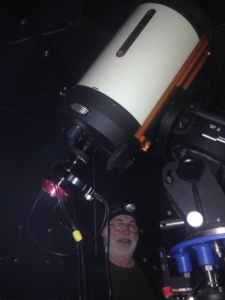 Klaus in der Sternwarte am 30.03.2017