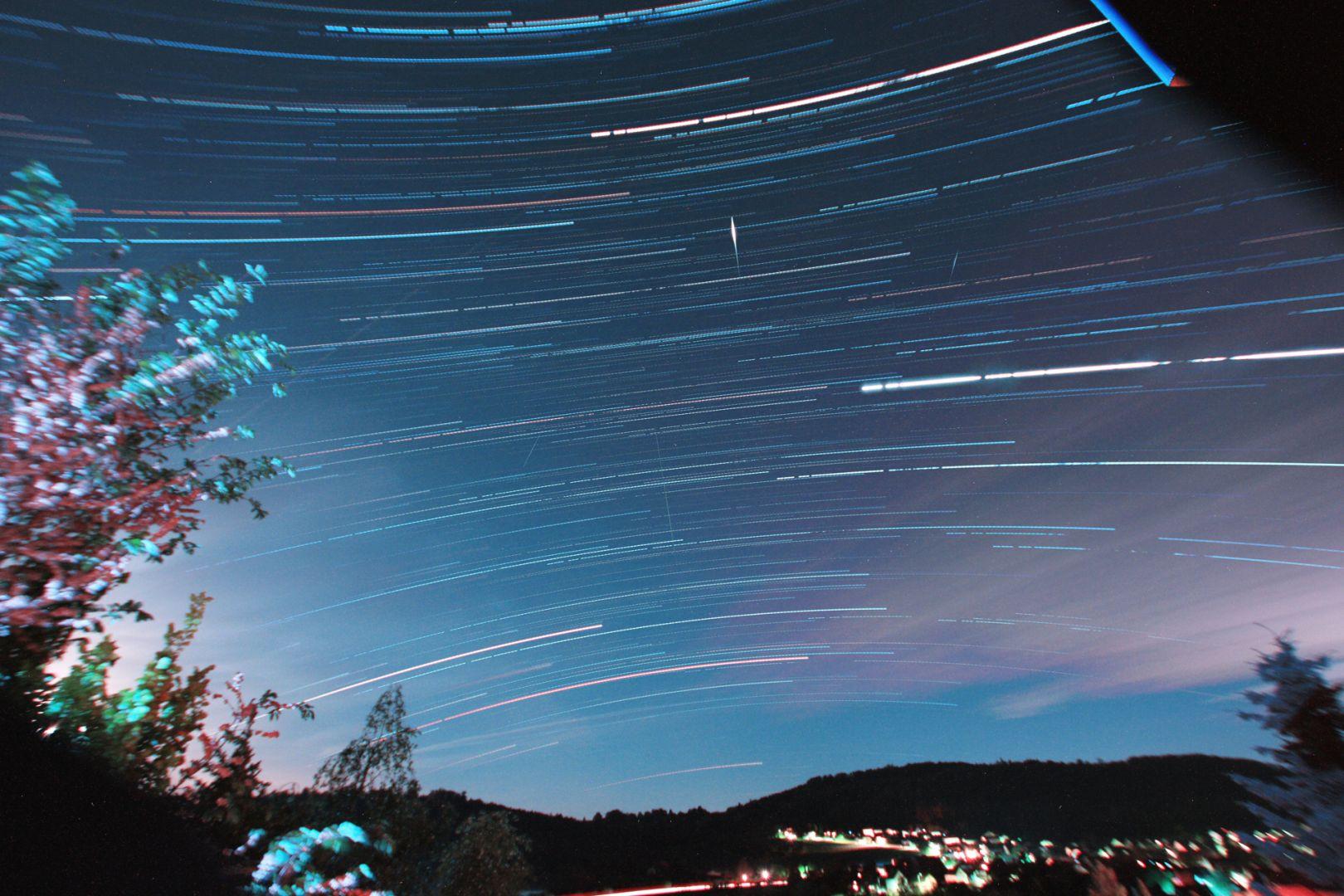 Startrails Glauburg Südhimmel