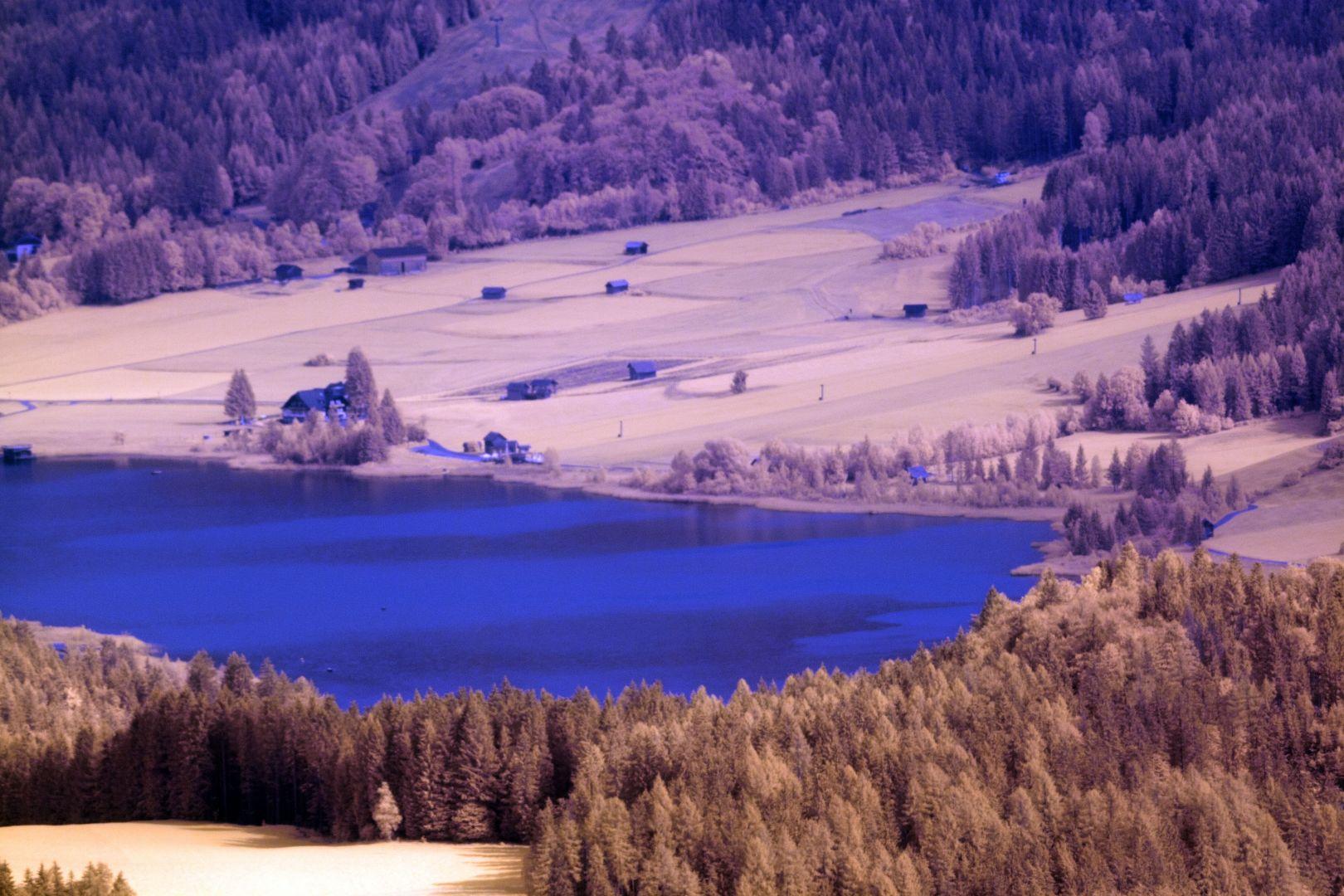 Der Weissensee (Kärnten) in Infrarot