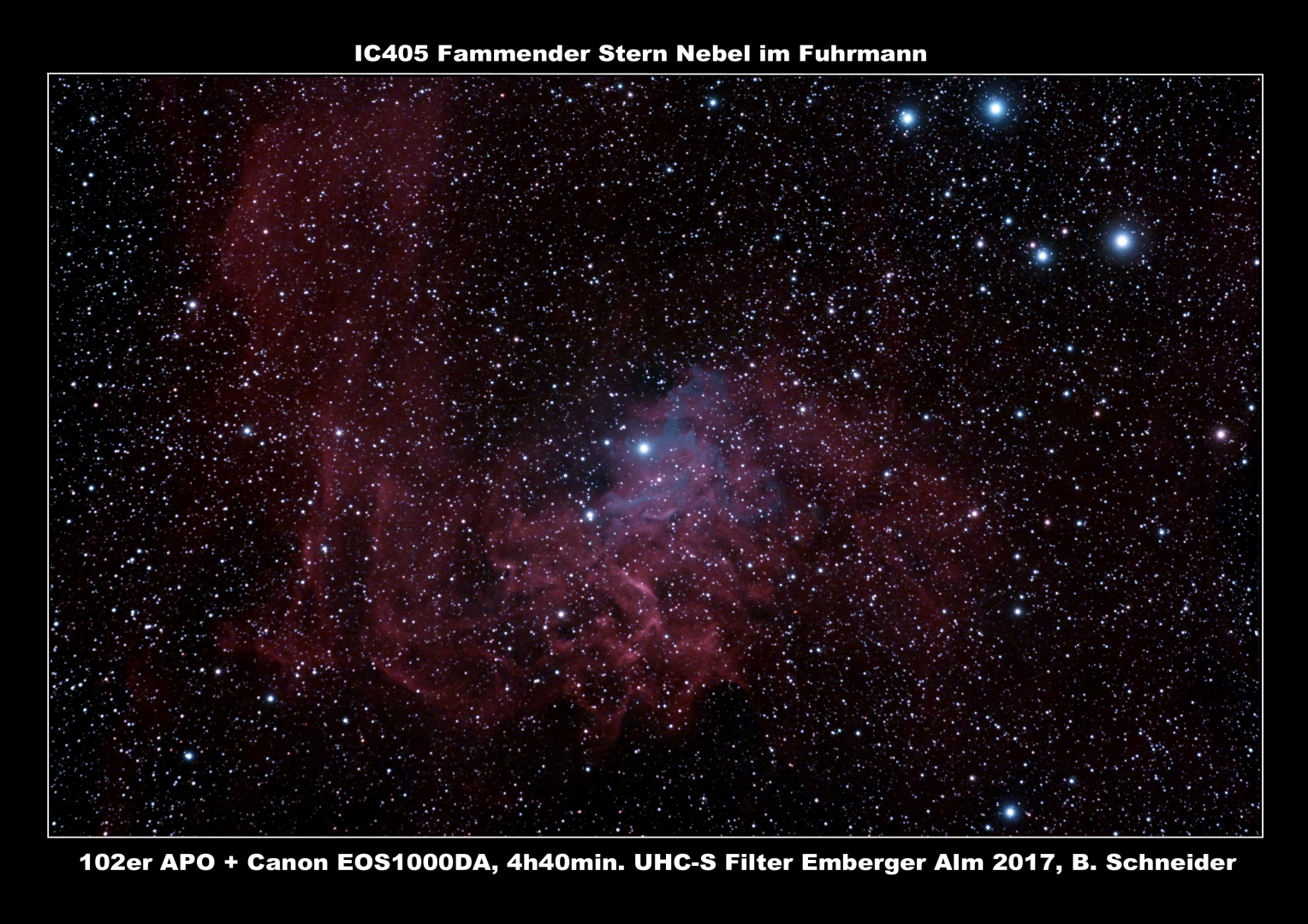 IC405 Fammender Stern Nebel