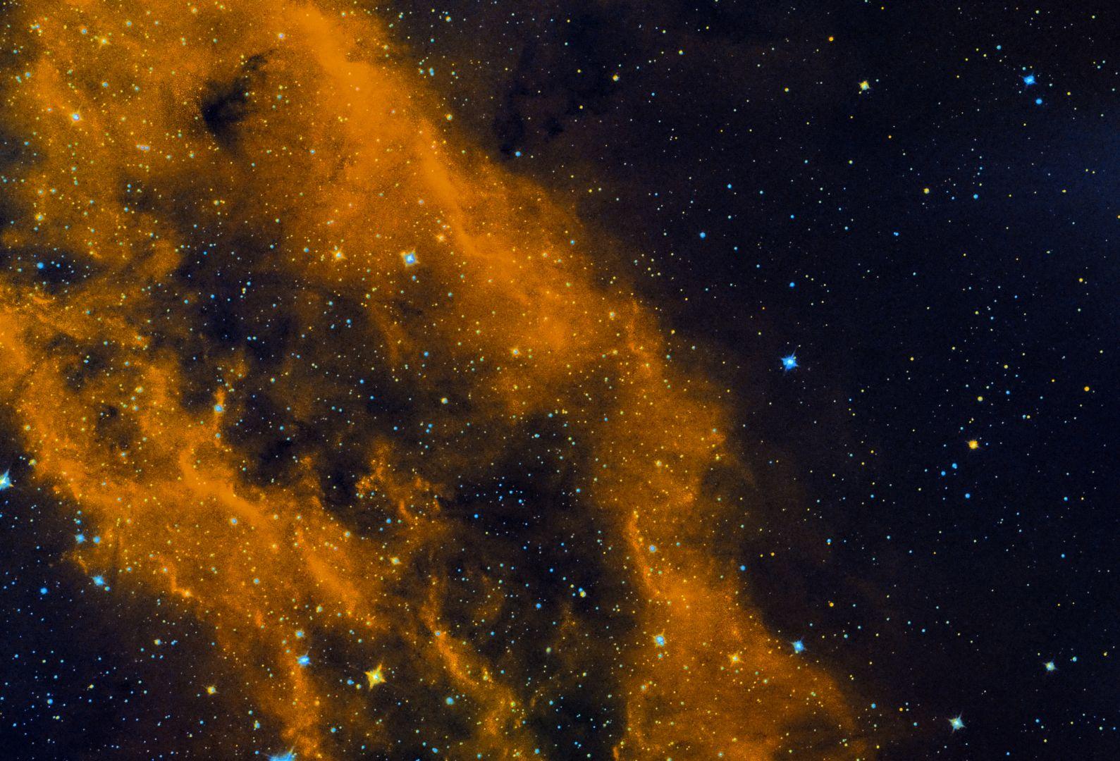 NGC1499 Kaliforniennebel Detail in Bicolor