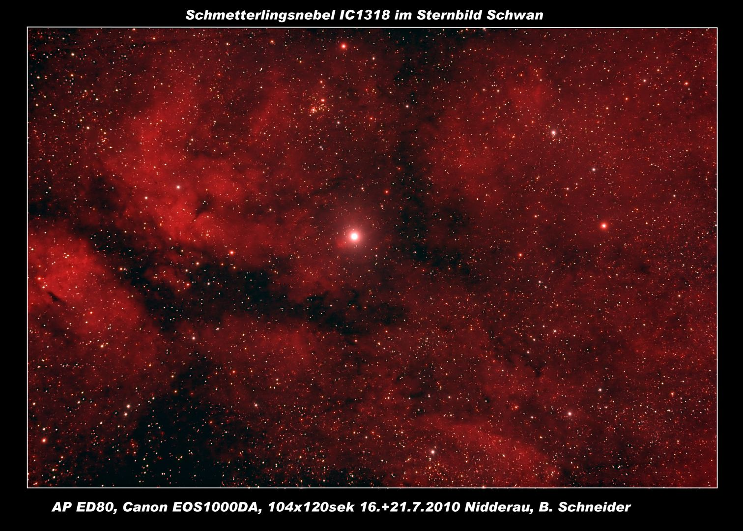 Schmetterlingsnebel IC1318