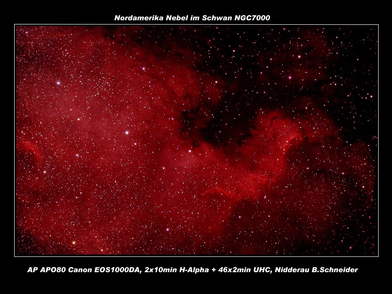 NGC 7000 Nordamerika Nebel