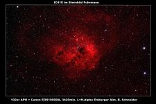 IC410 Emissionsnebel
